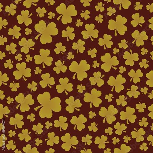 Foto op Canvas Voor kinderen Three leaf clover seamless background 7