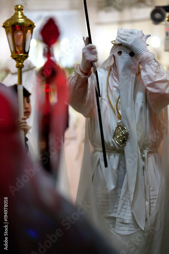 Foto op Canvas Napels Procida (Italy) - Holy Thursday in Procida
