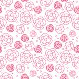 vector abstract illustration seamless flower pattern
