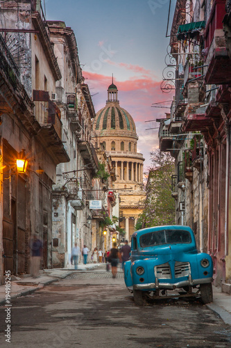 Fotobehang Havana La Havana near Capitolio