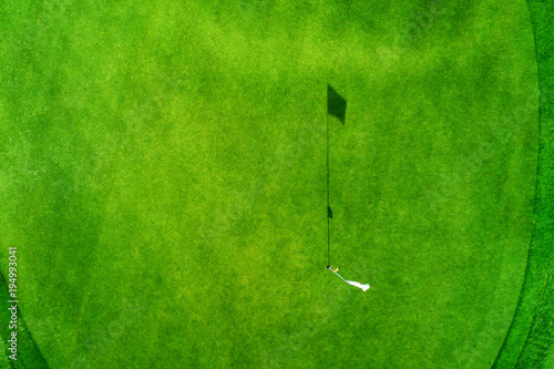 Aluminium Groene Aerial view of tropical golf course, Dominican Republic, Punta Cana