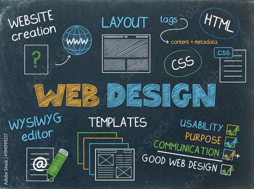 WEB DESIGN Vector Sketch Icons