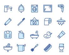 Bathing  Icon Set Sticker