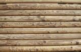 runde braune Holzalken, Hintergrund, Textur - 195009221