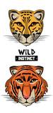 Fototapeta Wild leopard and tiger print for t shirt vector illustration clothing design