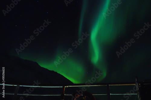 Plexiglas Noorderlicht Nordlicht über dem Polarmeer