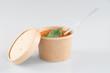 Gazpacho soup on grey concrete background