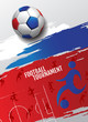 Football tournament, Soccer, cup, Design Background Template, Vector Illustration.