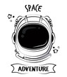 Astronaut adventure spirit printe for tshirt vector clothing design