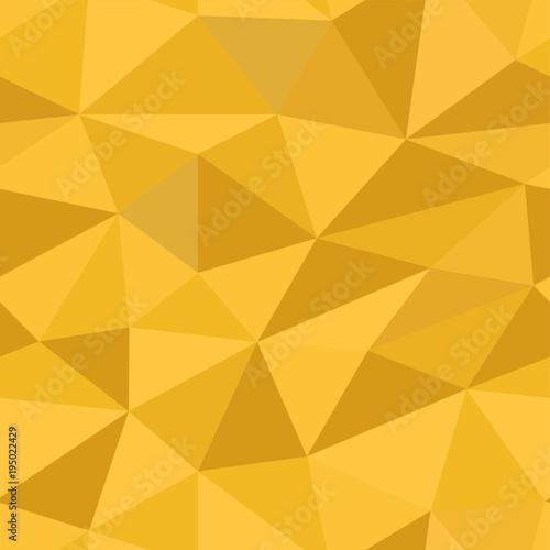 Fototapeta Polygonal 3d yellow background. Seamless pattern