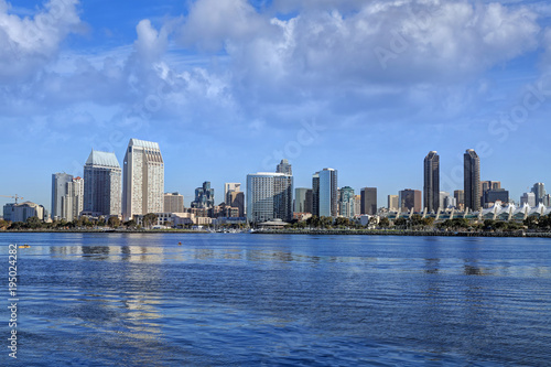 The San Diego, California skyline from Coronado Island. © jbyard