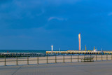Pier with lighthouse for big ships in Ostend, Belgium - 195025020