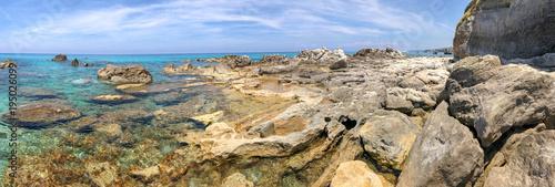Panoramic view of beautiful rocky beach - 195026099