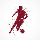 Footballeur-tâches-rouge - 195040638