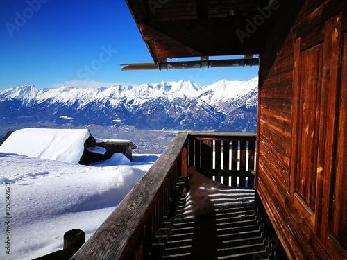 Blick auf Innsbruck von Largozalm Winter