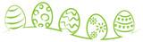 Osterei Eier Strich Zeichnung grün isoliert