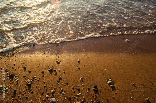Fotobehang Thailand Beach and sea surf with motion