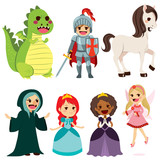 Of Cute Fairy Tale Characters For Children Book  Wall Sticker