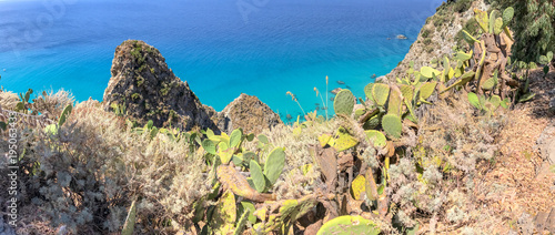 Poster Palermo Panoramic view of beautiful coastline in Southern Italy, summer season