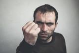 Caucasian angry man.