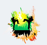 Martial Arts High Kick Wall Sticker