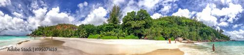 Deurstickers Tropical strand Panoramic view of Anse Georgette, Praslin - Seychelles
