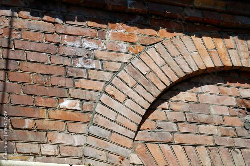 Tuinposter Baksteen muur Red brick wall texture background