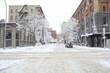 snow winter street