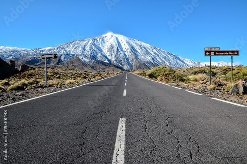 Aluminium Canarische Eilanden Desert Landscape in Volcan Teide National Park
