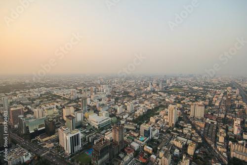 Fotobehang Bangkok Bangkok sunset, Bangkok city, Bangkok Thailand, Sunset