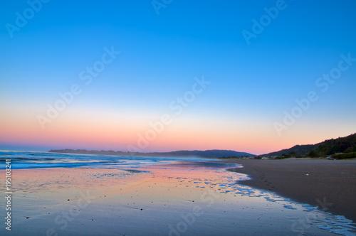 Aluminium Zee zonsondergang Stinson beach