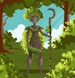 dryad nature tree forest guardian