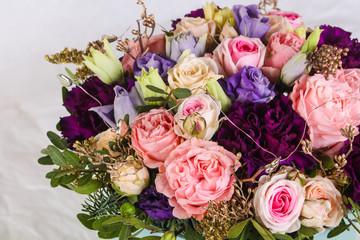 Fresh roses bouquet