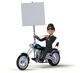 Fun Businessman  3d Illustration Wall Sticker