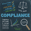 COMPLIANCE graphic notes on chalkboard