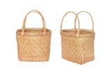 bamboo basket for Market Shopping isolated on white