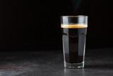 Hot espresso coffee glass - 195139269