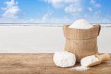 salt in bag on table - 195139817