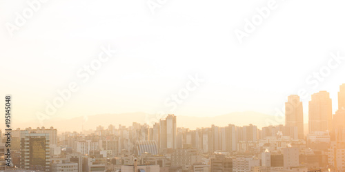 Foto op Canvas Seoel Cityscape at Sunrise. Seoul South Korea