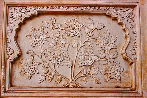 Artwork on the walls of Bibi-Ka-Maqbara, Aurangabad, Maharashtra