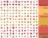 Großes Essen  Getränke Iconset De Wall Sticker