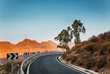 Eine Straße auf dem Berg in Gran Canaria