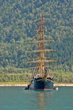 Sailing boat in the bay, Norway - 195162039