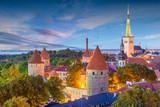 Tallinn, Estonia Historic Skyline - 195162293