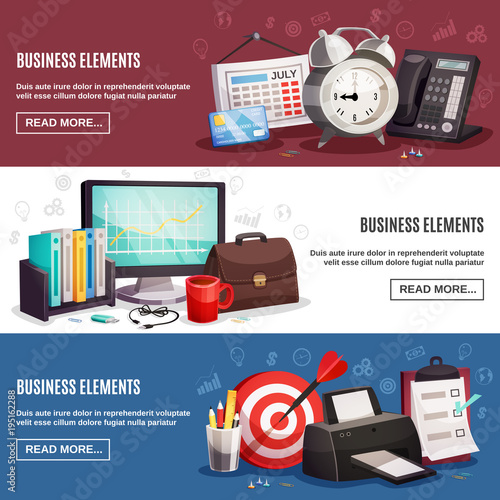 Business Office 3 Horizontal Banners
