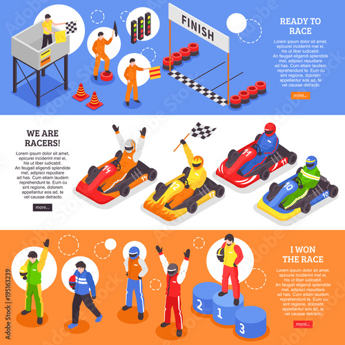 Cart Racers Horizontal Banners