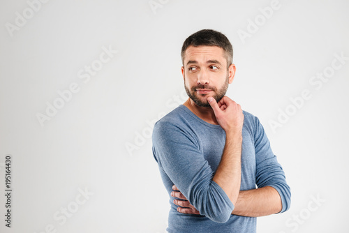 Papiers peints Kiev Thoughtful man isolated over white background