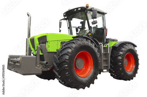 Aluminium Trekker Agricultural tractor isolated on a white background