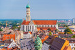 Leinwanddruck Bild - Augsburg, Germany Town Skyline