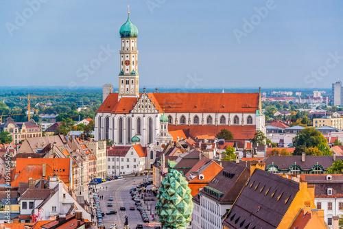 Leinwanddruck Bild Augsburg, Germany Town Skyline